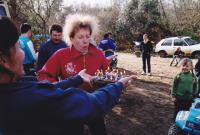 Février 2001 dimanche avec Ricou pour s'amuser dans le sable et en plus c'est l'anniversaire de Brigitte !!!!!!
